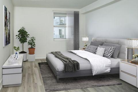 Bedroom at Camden Brickell Apartments in Miami, FL