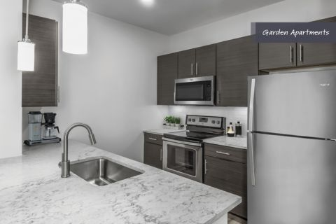 Garden Apartments Kitchen at Camden Brookwood Apartments in Atlanta GA
