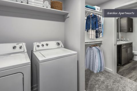 Garden Apartments Laundry Room at Camden Brookwood Apartments in Atlanta GA