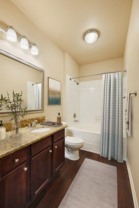 Bathroom at Camden Brushy Creek Apartments in Cedar Park, TX