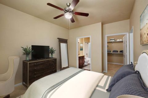 Main Bedroom at Camden Brushy Creek Apartments in Cedar Park, TX