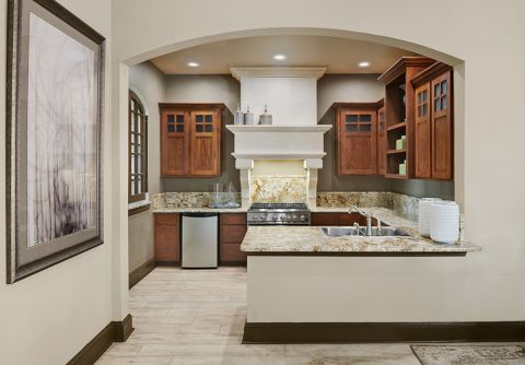 Clubhouse Kitchen at Camden Brushy Creek Apartments in Cedar Park, TX