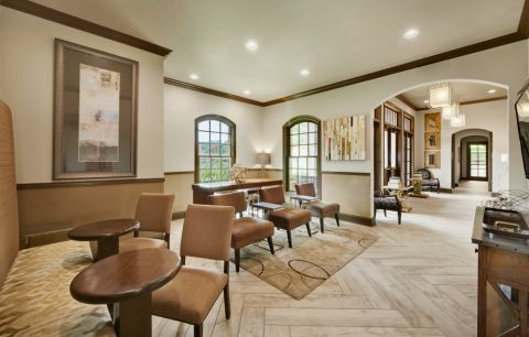Clubhouse Lounge at Camden Brushy Creek Apartments in Cedar Park, TX