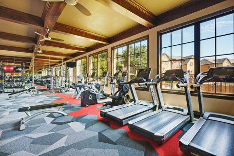 24-hour Fitness Center with cardio equipment at Camden Brushy Creek Apartments in Cedar Park, TX