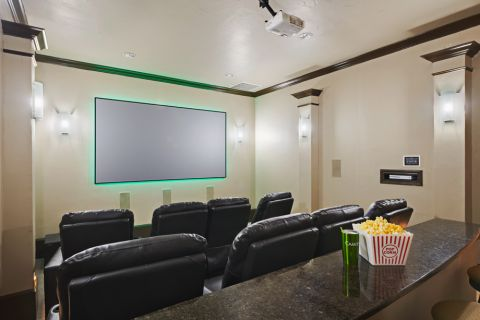 Theater Room at Camden Brushy Creek Apartments in Cedar Park, TX