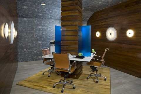 Community workspace at Camden Buckhead Square Apartments in Atlanta, GA