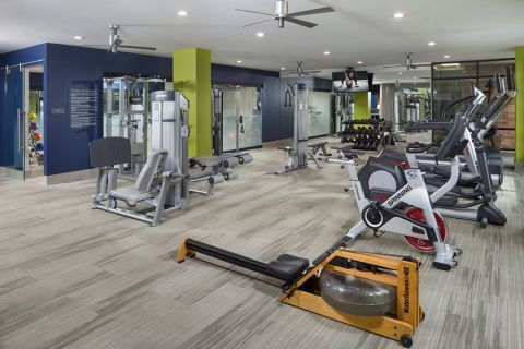 Fitness center at Camden Buckhead Square Apartments in Atlanta, GA