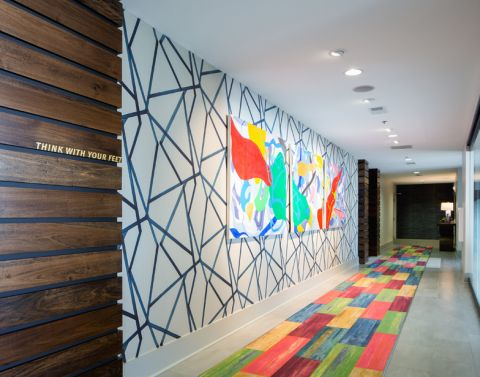 Interior mural at Camden Buckhead Square Apartments in Atlanta, GA