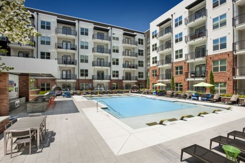 Pool Deck at Camden Buckhead Square Apartments in Atlanta, GA