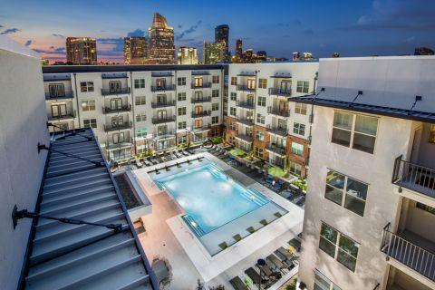 Swimming pool at Camden Buckhead Square Apartments in Atlanta, GA