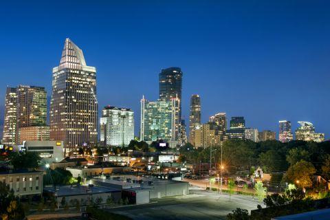 City views at Camden Buckhead Square Apartments in Atlanta, GA