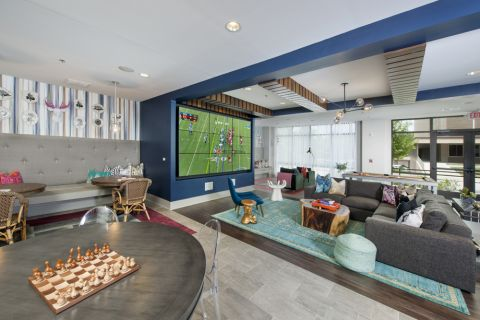 Clubroom at Camden Buckhead Square Apartments in Atlanta, GA