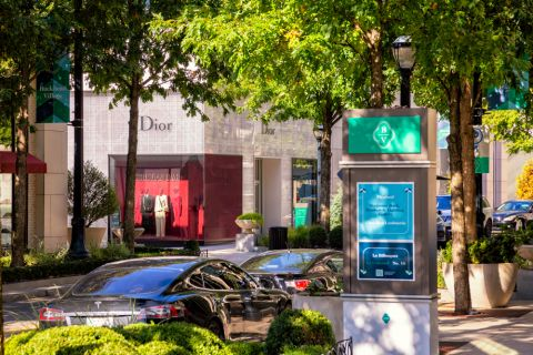 Shops inside Buckhead Village near Camden Buckhead Square Apartments in Atlanta, GA