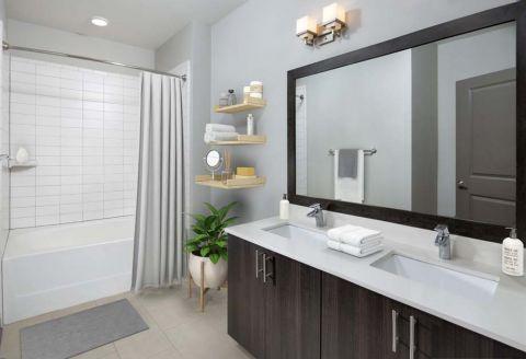 Bathroom at Camden Buckhead Square Apartments in Atlanta, GA