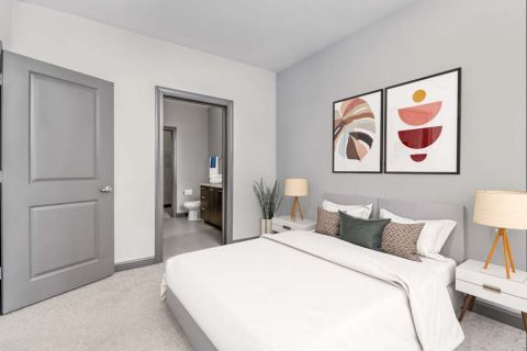 Bedroom at Camden Buckhead Square Apartments in Atlanta, GA
