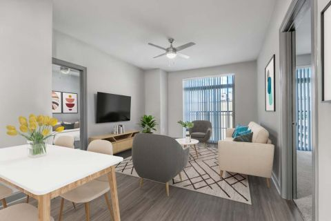 Dining Room at Camden Buckhead Square Apartments in Atlanta, GA