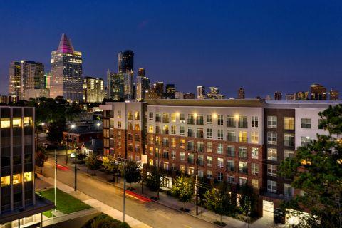 Exterior and City Views at Camden Buckhead Square Apartments in Atlanta, GA