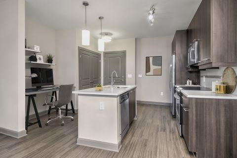 Work from Home Area at Camden Buckhead Square Apartments in Atlanta, GA
