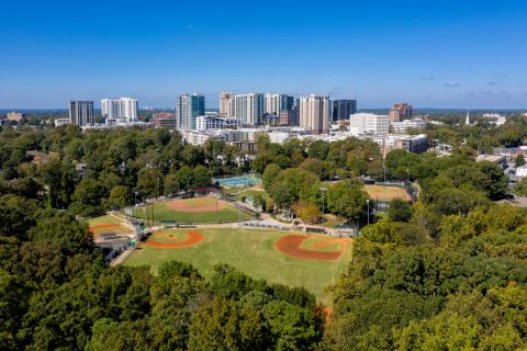 Frankie Allen Park near Camden Buckhead Square Apartments in Atlanta, GA