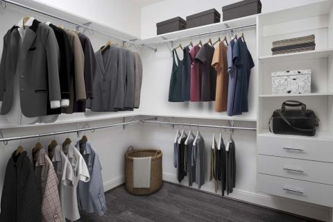 Modern Gray Closet at Camden Buckhead apartments in Atlanta, GA