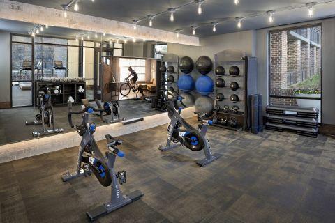 Fitness Studio at Camden Buckhead apartments in Atlanta, GA