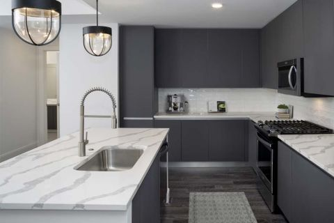 Modern Gray Kitchen at Camden Buckhead apartments in Atlanta, GA