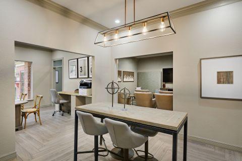 Workspace Area at Camden Buckingham Apartments in Richardson, TX