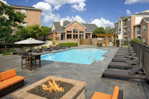Swimming pool at Camden Caley Apartments in Englewood, CO