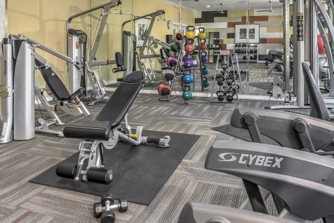 24-Hour Fitness Center at Camden Caley Apartments in Englewood, CO