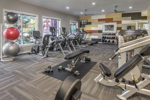 24-Hour Fitness Center with Cardio Equipment at Camden Caley Apartments in Englewood, CO
