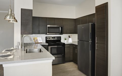 Kitchen at Camden Caley Apartments in Englewood, CO