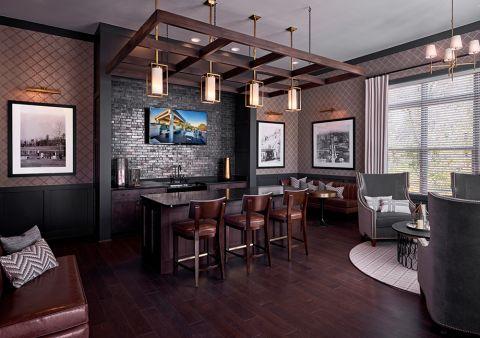 Clubview lounge at Camden Carolinian in Raleigh North Carolina