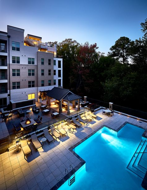 Outdoor Pool and lounge at Camden Carolinian in Raleigh North Carolina