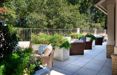 Outdoor lounge at Camden Carolinian in Raleigh North Carolina