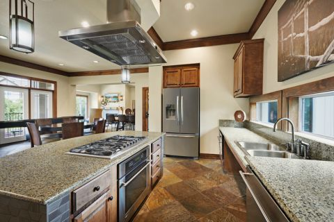 Clubhouse Entertaining Kitchen at Camden Cedar Hills Apartments in Austin, TX