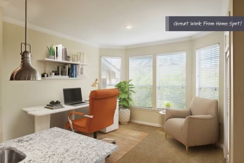 Home Office Space at Camden Cedar Hills Apartments in Austin, TX