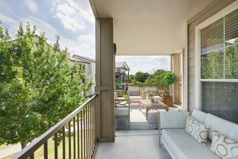 Outdoor Living Space at Camden Cedar Hills Apartments in Austin, TX