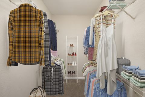 Extensive closet at Camden Centreport Apartments in Ft. Worth, TX