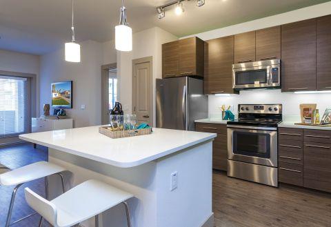 Kitchen in Two Bedroom Floor Plan at Camden Chandler Apartments in Chandler, AZ