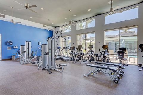 Fitness Center with Cardio Machines at Camden Chandler Apartments in Chandler, AZ