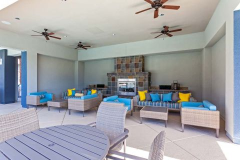 Poolside Outdoor Lounge at Camden Chandler Apartments in Chandler, AZ