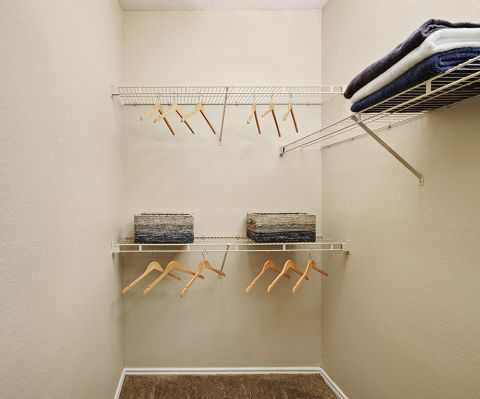 Walk-In Closet at Camden Cimarron Apartments in Irving, TX