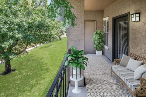 Patio at Camden Cimarron Apartments in Irving, TX