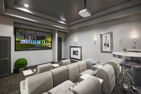 Movie Theater at Camden City Centre Apartments in Houston, TX