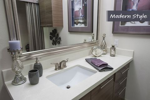Modern Style Bathroom at Camden City Centre Apartments in Houston, TX