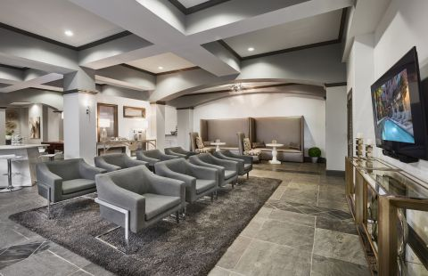 Social Lounge at Camden City Centre Apartments in Houston, TX