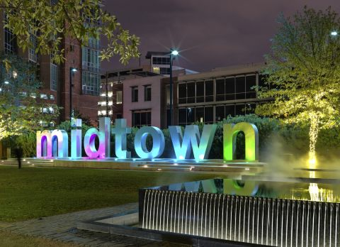 Midtown Sign at Camden City Centre Apartments in Houston, TX