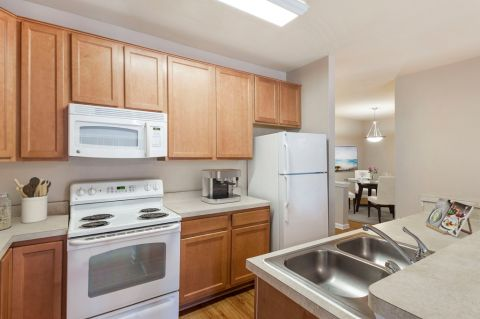 Kitchen at Camden College Park Apartments in College Park, MD