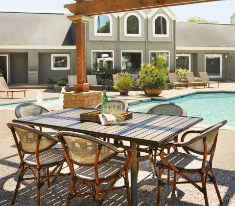 Outdoor Dining, Gazebos and Sundeck at Camden Copper Ridge Apartments in Corpus Christi, TX