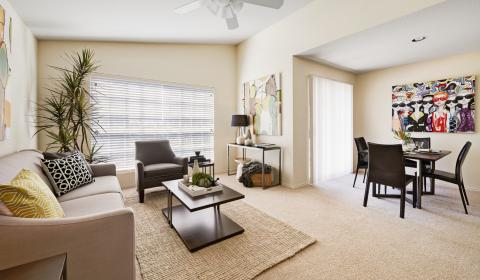 Living and Dining Room at Camden Copper Ridge Apartments in Corpus Christi, TX